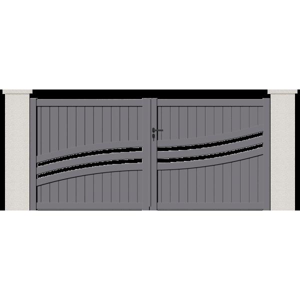 portail battant grand voile portail sur mesure alu. Black Bedroom Furniture Sets. Home Design Ideas