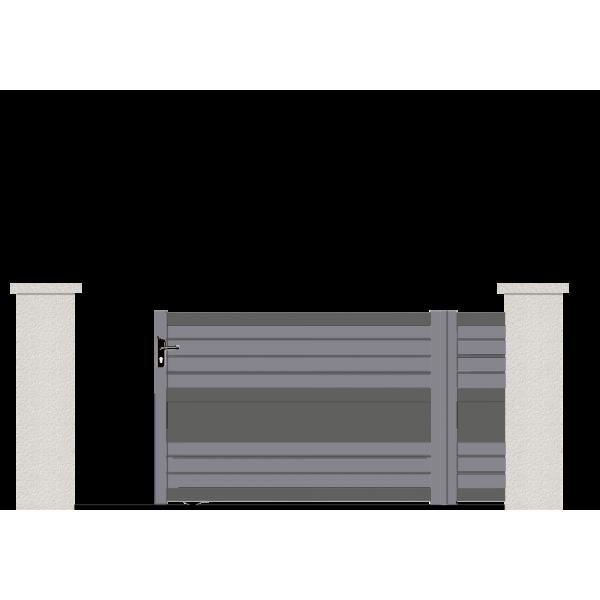 portail coulissant hydra portail aluminium coulissant contemporain. Black Bedroom Furniture Sets. Home Design Ideas