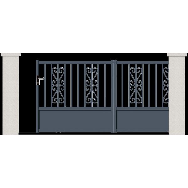 portail coulissant gamma portail alu sur mesure en ligne. Black Bedroom Furniture Sets. Home Design Ideas