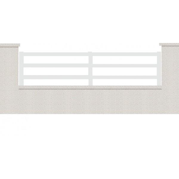 cloture hermione 3 lames en kit cloture aluminium. Black Bedroom Furniture Sets. Home Design Ideas