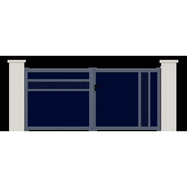 Portail battant helium portail aluminium battant contemporain Portail aluminium battant