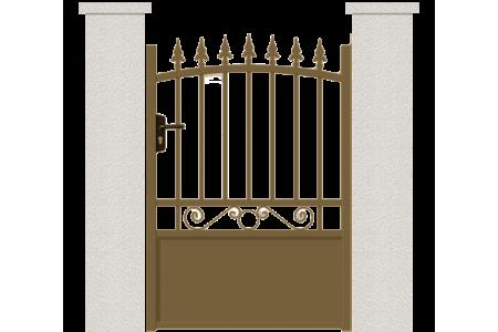 Portillon lambda portillon aluminum sur mesure for Portillon sur mesure
